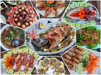 Bữa ăn hải sản dinh dưỡng thơm ngon