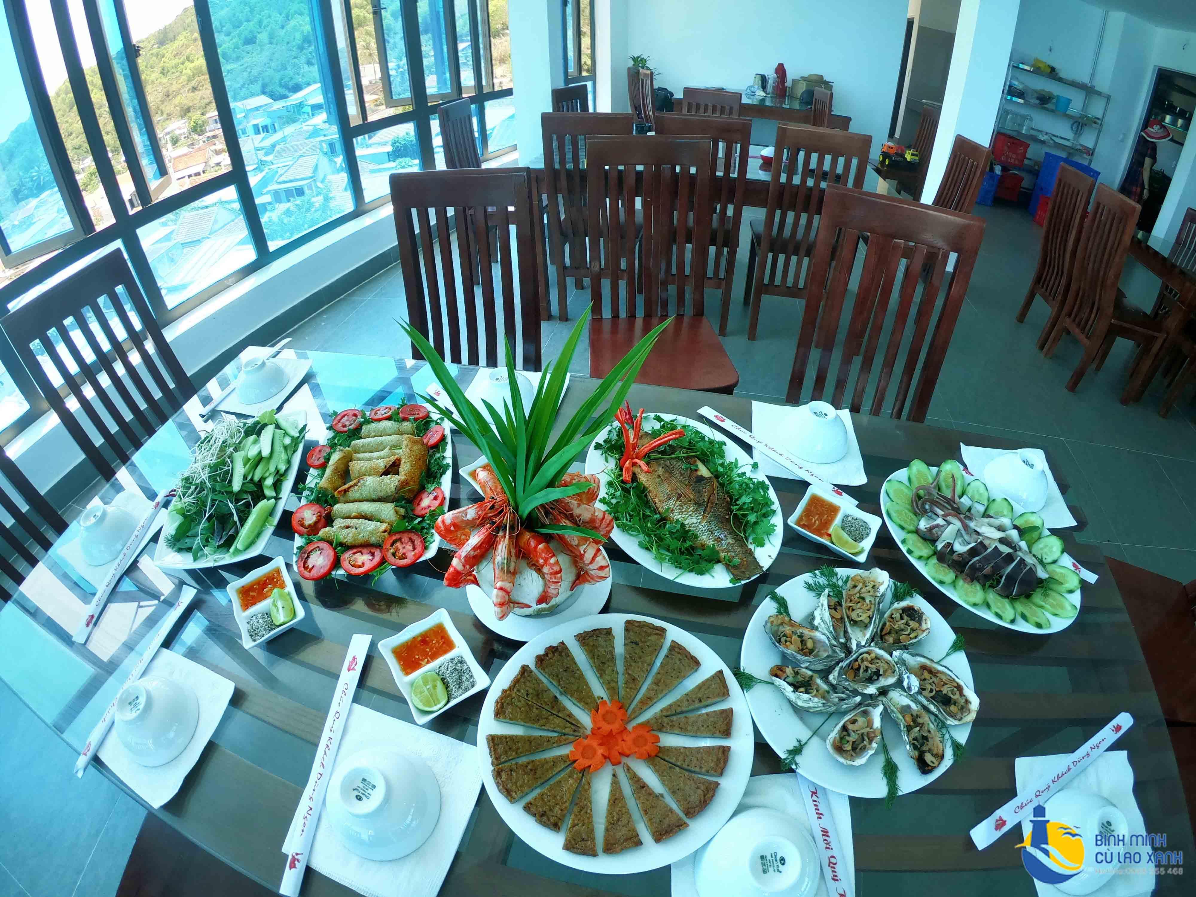 Ẩm thực Cù Lao Xanh - Các món hải sản của nhà hàng Cù Lao Xanh