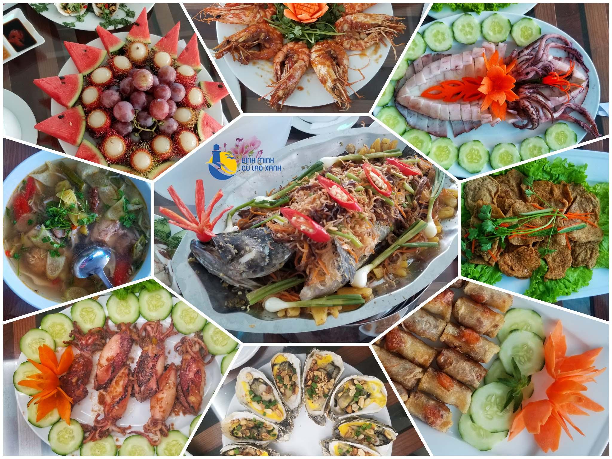 ẩm thực cù lao xanh