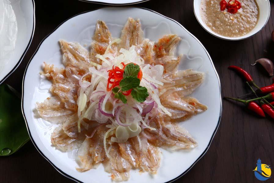 món gỏi cá mai - ẩm thực quy nhơn