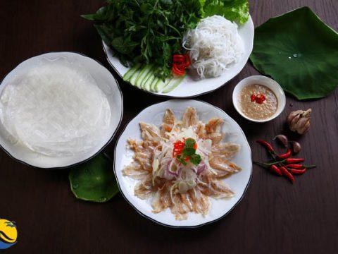 món gỏi cá mai ẩm thực d lịch quy nhơn