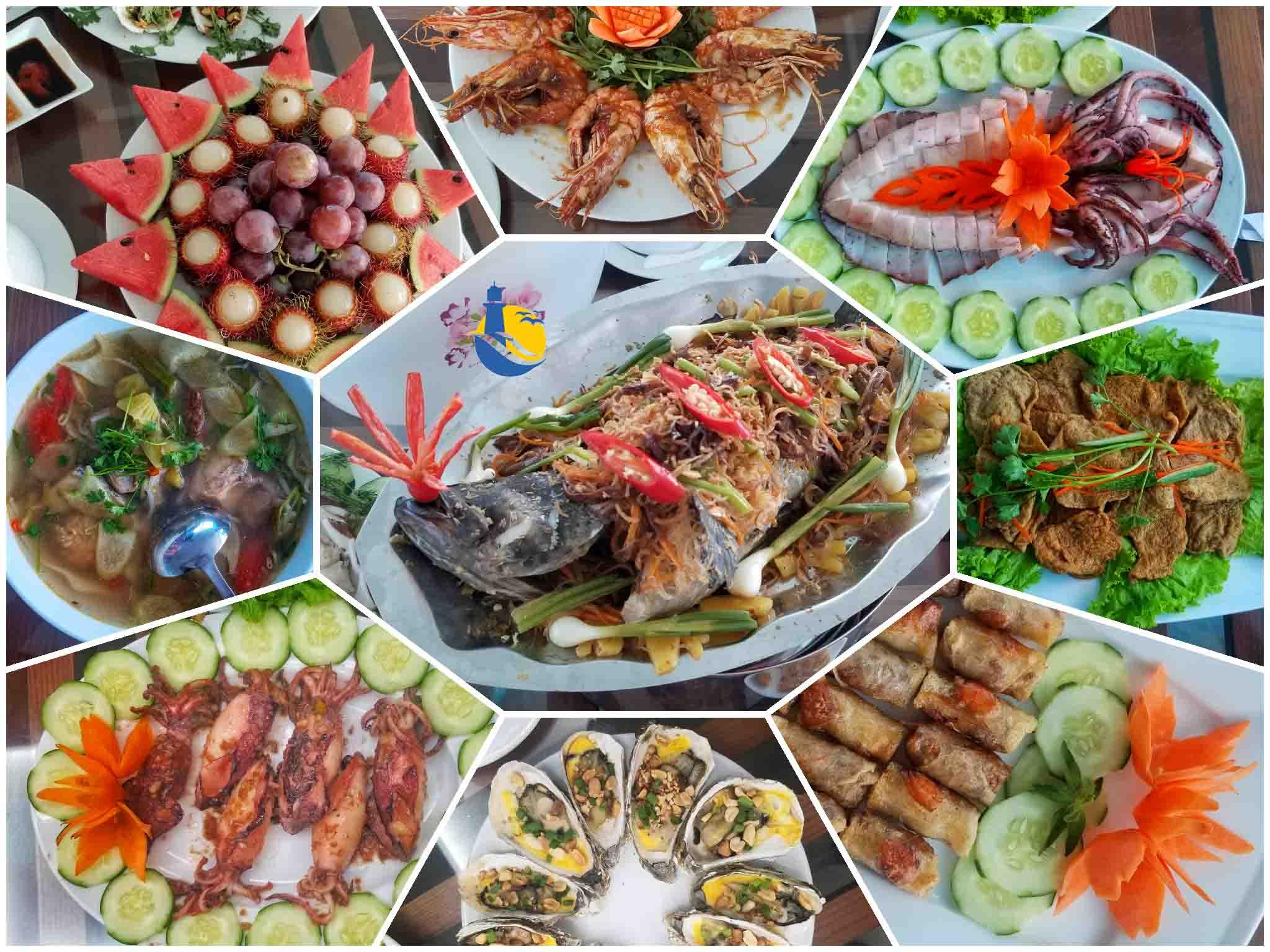 Ẩm thực nhà hàng Cù Lao Xanh