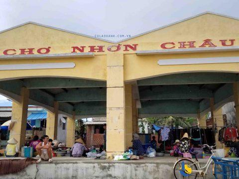 Chợ Nhơn Châu xã đảo Nhơn Châu Cù Lao Xanh