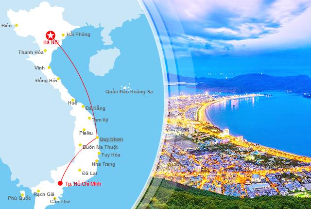 Săn vé máy bay giá rẻ đi Quy Nhơn