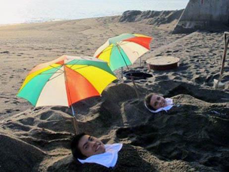 Tắm cát chữa bệnh ở Cù Lao Xah