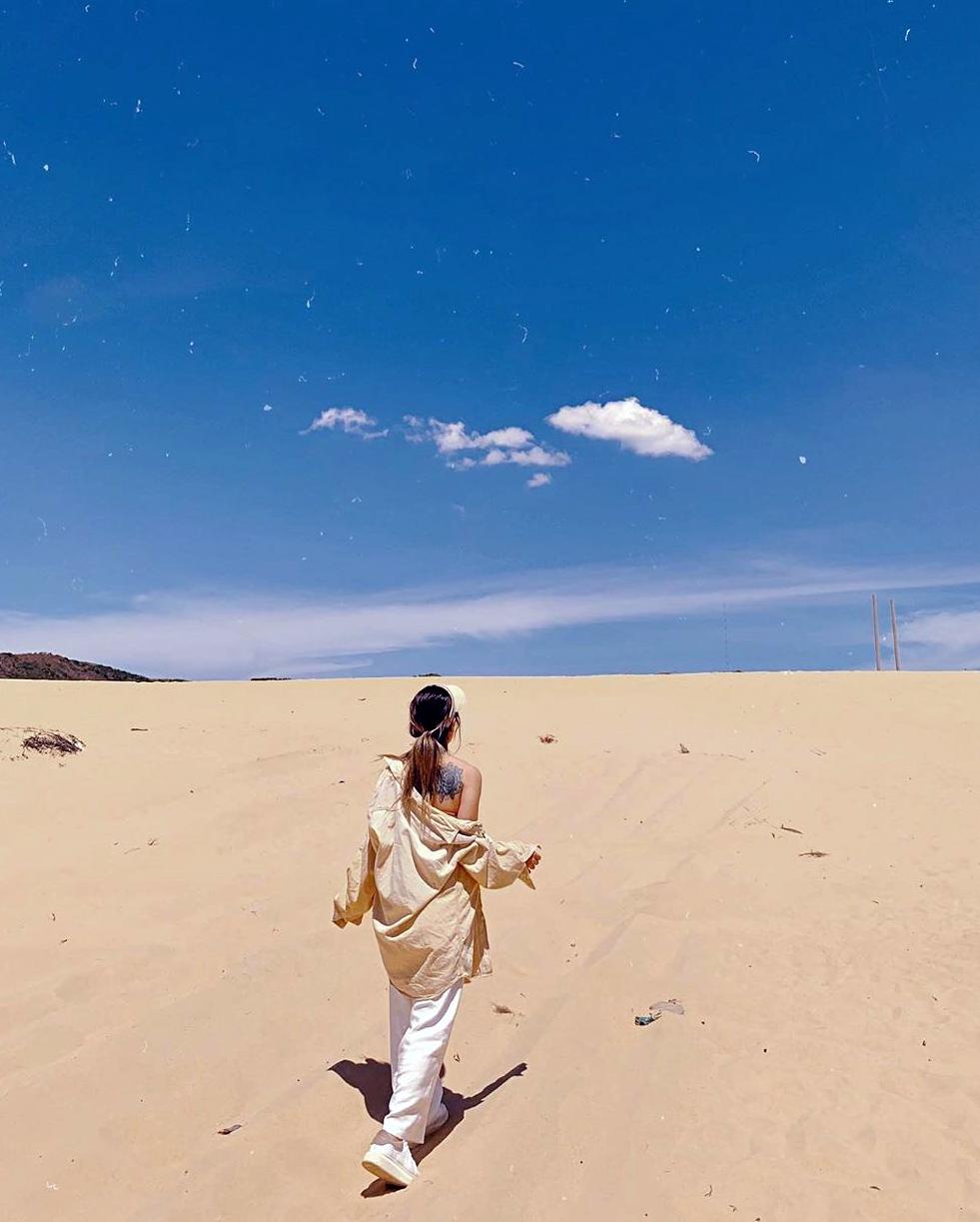 du lịch quy nhơn hình ảnh đồi cát Phương Mai