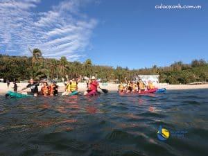 Trải nghiệm chèo thuyền Kayak/Sup cùng Tour Cù Lao Xanh qua đêm