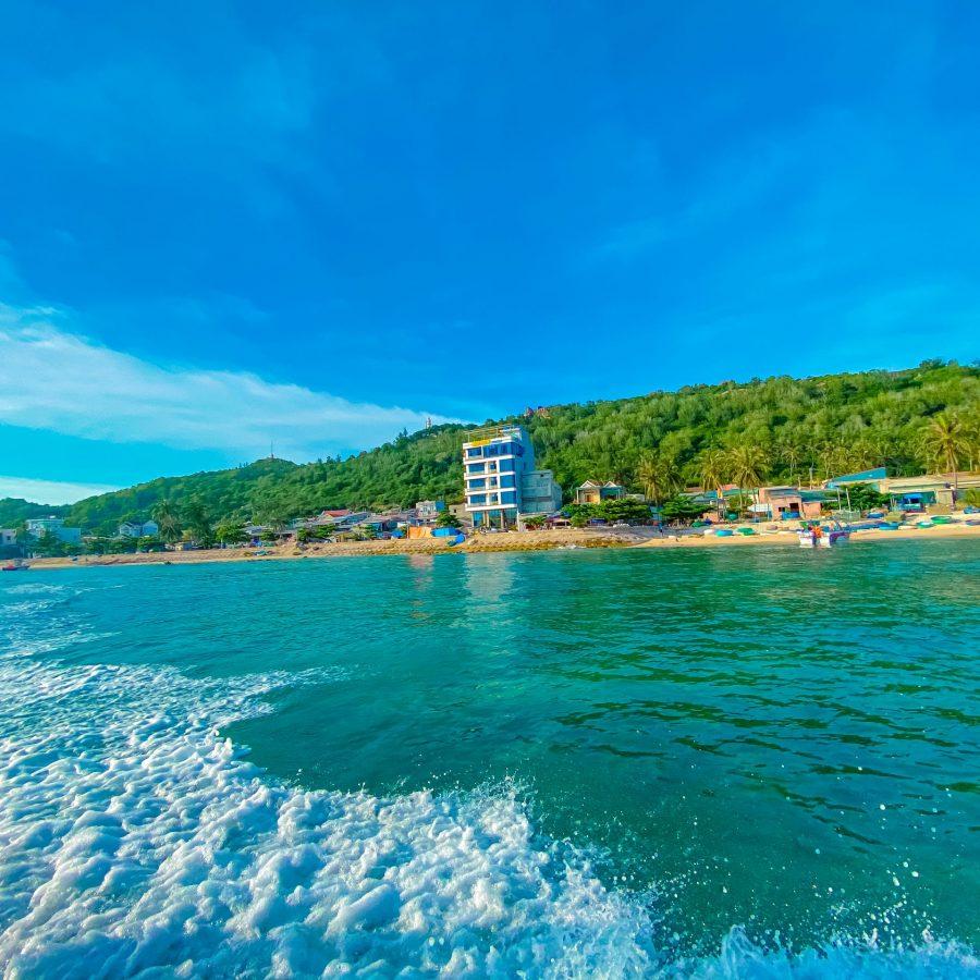 khách sạn duy nhất trên đảo cù lao xanh
