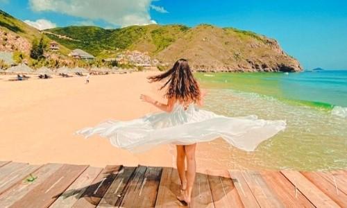 check-in bãi biển kỳ co