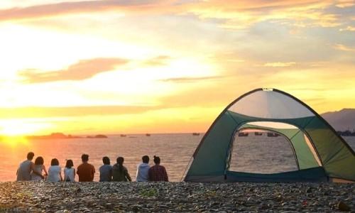 cắm trại hòn khô bình định