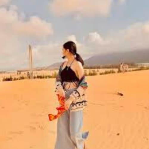 check-in đồi cát phương mai